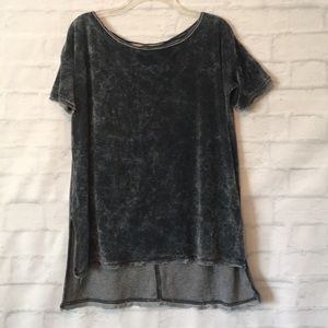 Free People gray terry cloth short sleeve top sz S